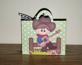 Birthday party favors/set of 10/birthday favor bags/ cowboy party favor