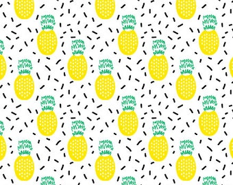 Crib Sheet Summer Pineapples. Fitted Crib Sheet. Baby Bedding. Crib Bedding. Minky Crib Sheet. Crib Sheets. Pineapple Crib Sheet. Baby Sheet