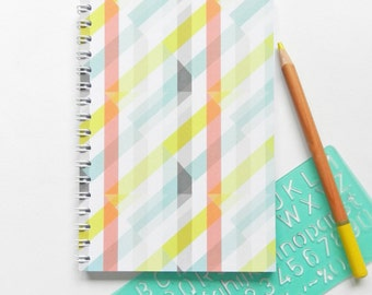 A6 Spiral Bound Patterned Notebook