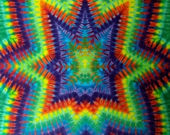 Cosmic Implosion Tie Dye Rainbow Tapestry!