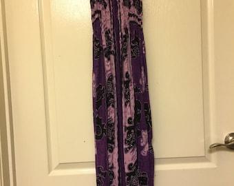 Purple handkerchief dress