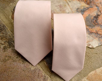 mens neck ties, peach tie,peach blush neckties,groomsman necktie peach blush,peach necktie