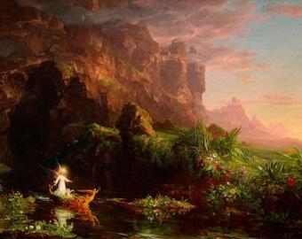 "Thomas Cole : ""The Voyage of Life I - Childhood"" (1842) - Giclee Fine Art Print"