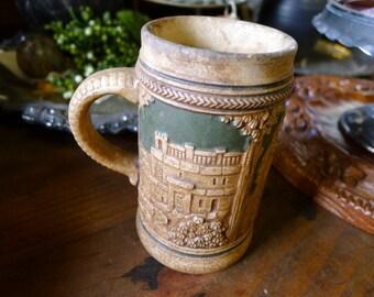 German ceramic beer stein