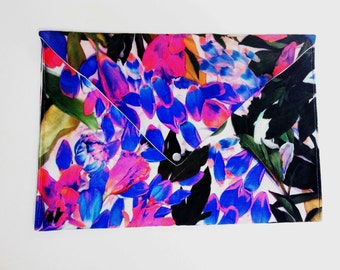 Floral Scuba Knit Envelope Clutch