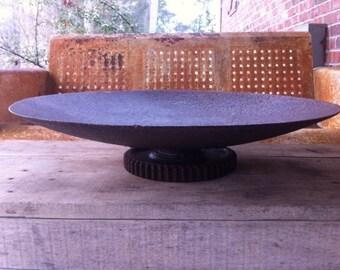 Vintage Industrial Bowl / Rustic Bowl / Farmhouse Decor / Farmhouse Kitchen  / Industrial Kitchen /