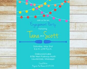 Lake Party Invitation / Paddles / Canoe