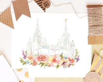 LDS Temple Watercolor (San Diego), San Diego Temple