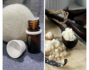 Warm Vanilla Sugar,Wool Dryer Ball Scents,oils,cloth diapers,dryer ball,felted ball,dryer balls set,refill,secret garden,fragrance,laundry