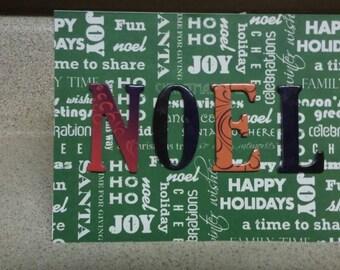 Noel Colorful Christmas Card