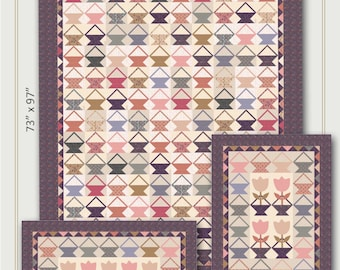 Nancy Rink Designs Little Baskets 73 x 97 + More Quilt Pattern Free Ship