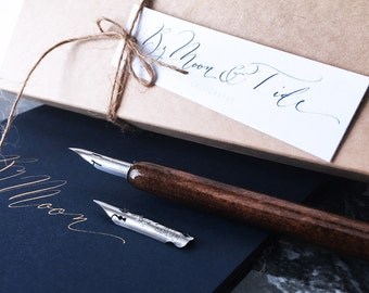 Calligraphy straight pen and modern lettering nib set