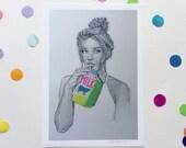 MILK / Signed print by Niki Pilkington