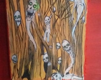 ghosts in the woods