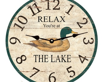 Personalized Lake Clock- Duck
