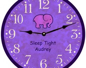 Nursery Clock- Baby Girl Clock