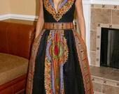 Dashiki Maxi Dress