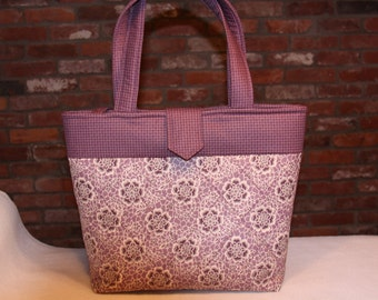 Mauve Quilted Tote Bag
