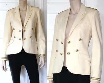 60s classic wool Sergeant Pepper military blazer - medium or large