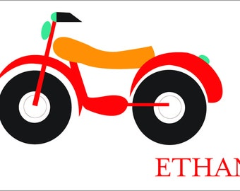 Motorcycle Personalized Placemats