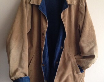 Vintage LL BEAN Denim & Corduroy Jacket
