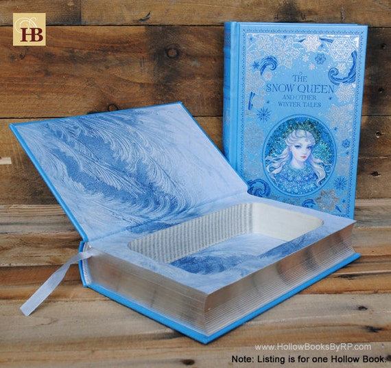 Book Safe - The Snow Queen - Leather Bound Hollow Book Safe