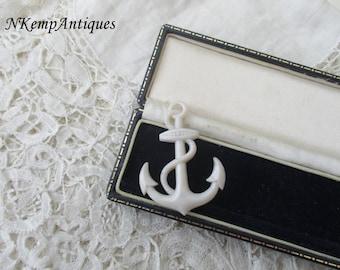 Celluloid anchor brooch 1930's
