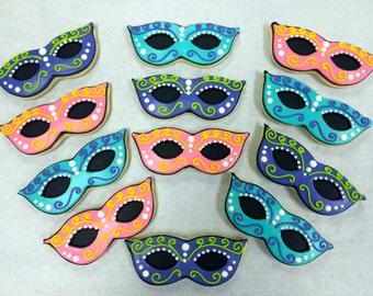 Mardi Gras Cookie Favors, Mardi Gras Mask Cookies, Mardi Gras Cookies, Mask Cookies, Diva Cookie Favors, Diva Party Favor Cookies