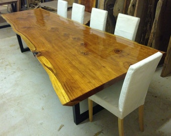 Live Edge Dining Table Redwood Dining Table Wood Slab