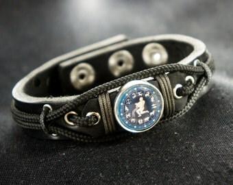 Aquarius Bracelet, Aquarius charm Jewelry, Star Zodiac Sign Astrology Gift for Man, Water Bearer Bracelet, Astrological, January - February