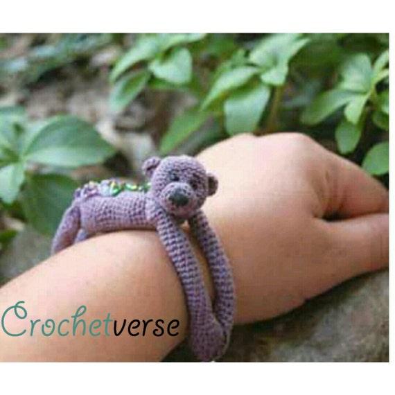Animal Hug Bracelets Crochet Pattern Miniature Monkey