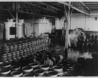 Confiscated Liquor in warehouse 1920's for destruction , Prohibition Era America Photo Print