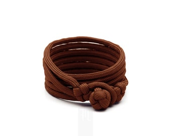 Men's bracelet in brown rope, bracelet for man, paracord bangle, mens bracelet, wrap bracelet made in Italy.