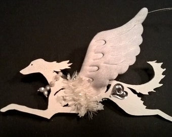 UniQ Saluki  Xmas ornament angel !