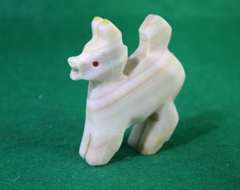 Vintage Mexican Carved Alabaster Fawn