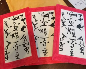 Set of three Naruto paper bomb props for cosplay or display