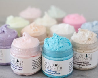 Foaming Sugar Scrub Samples, Try me First Selection
