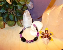 Sugilite and Black Tourmaline 'Healing Power' Bracelet