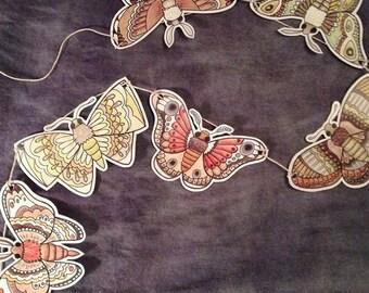 Moth Garland