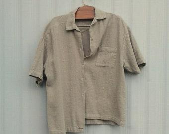 vintage primitive shirt in beige