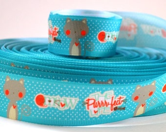 "The Purr-fect Life Cat Ribbon 1"" ribbon"