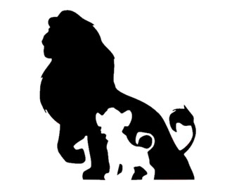 Simba Decal | Disney Decal | Disney Simba from Lion King Sticker | Disney Grown and Young Simba Vinyl Decal | Disney Vinyl | Simba Sticker