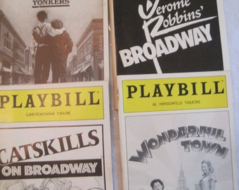 plat bills with the theme of new york shows..yonkers, broadway, and wonderful town