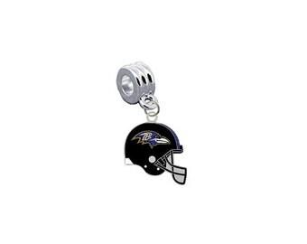 Baltimore Ravens HELMET European Charm for Bracelet, Necklace & DIY Jewelry