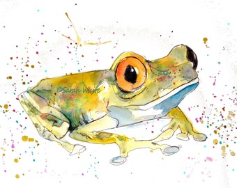Froggies, 1,2 & 3 ! Giclee Prints