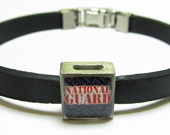 National Guard Link With Choice Of Colored Band Charm Bracelet