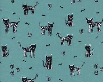 1/2 yard BOO by  Alexia Marcelle Abegg for Cotton & Steel My Pet Skeleton
