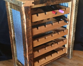 Wine Storage Rack with Pull Out Wine Shelves