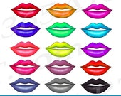 50% OFF SALE Lips Clipart...