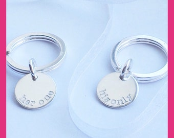 Wedding Gifts For Couple, personalised sterling silver keyrings, Wedding Gifts Personalized, Personalised wedding gift